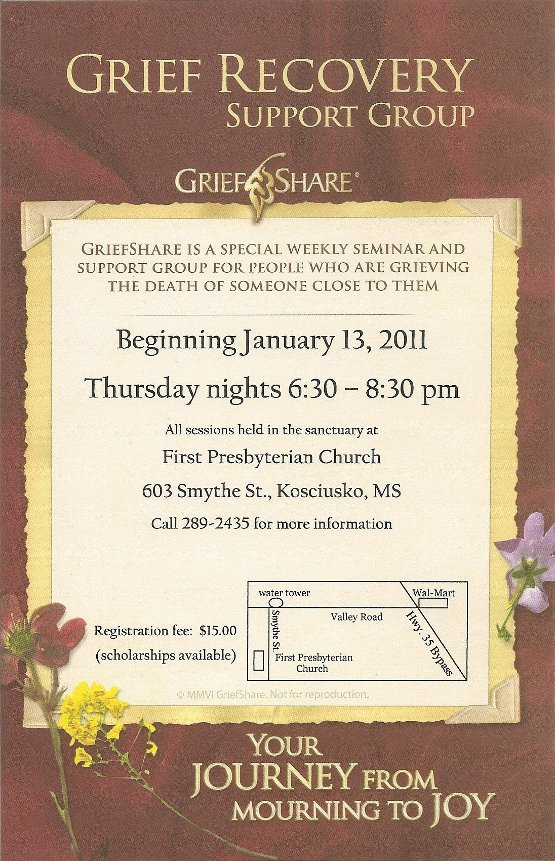 GriefShare 2011 January Poster