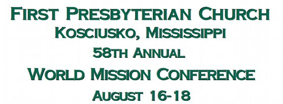 2013 World Missions Conference Banner