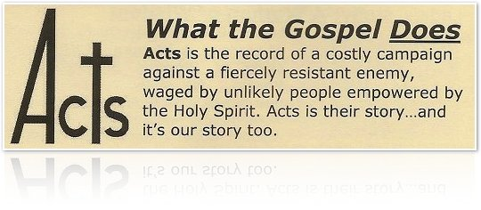 Acts: What the Gospel Does sermon series Page Graphic